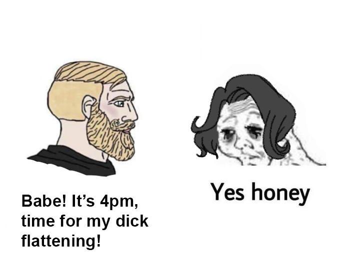 Masochist Chad Dick Flattening Know Your Meme
