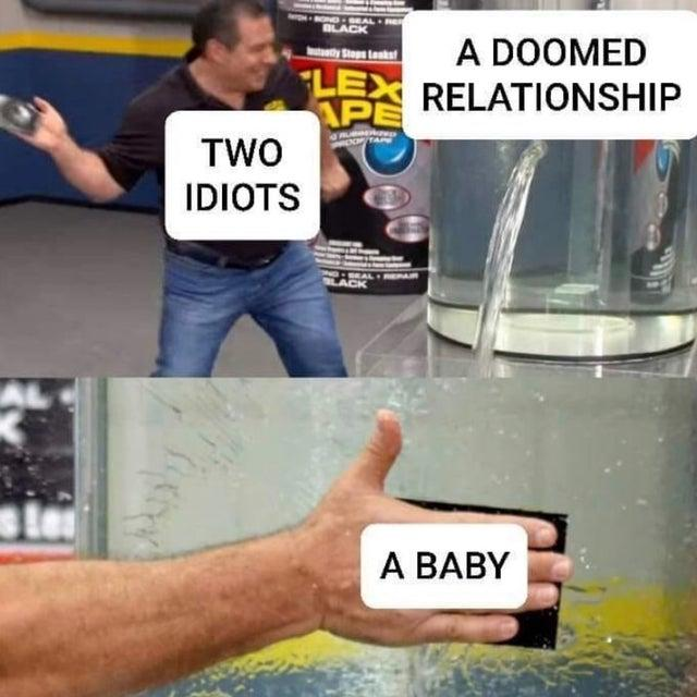A Baby Phil Swift Slaps On Flex Tape Know Your Meme