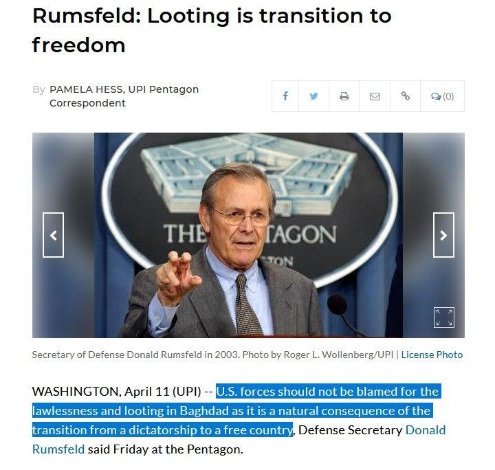On Lisa Rein S Radar Rumsfeld On Meet The Press The Memo And
