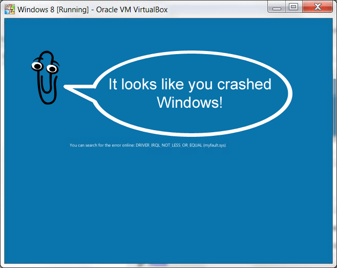 Clippy On Windows 8 S New Bsod Clippy Know Your Meme