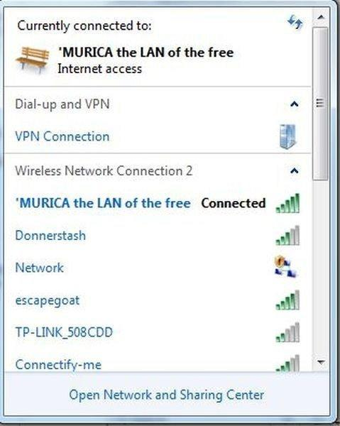 Lan Of The Free Funny Wifi Names Know Your Meme
