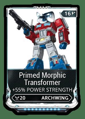 Primed Morphic Transformer Warframe Know Your Meme