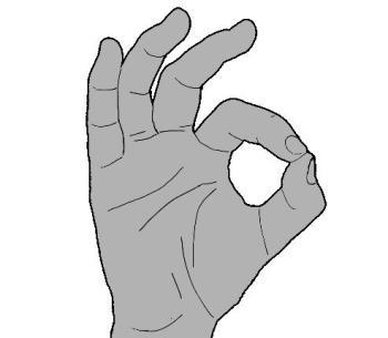 the circle game hand gesture ok symbol illustrated