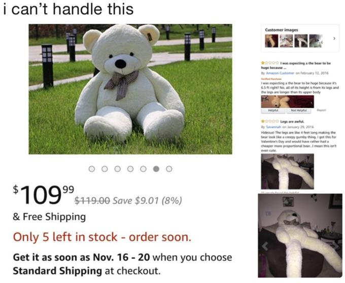 Disproportionate Teddy Bear Know Your Meme