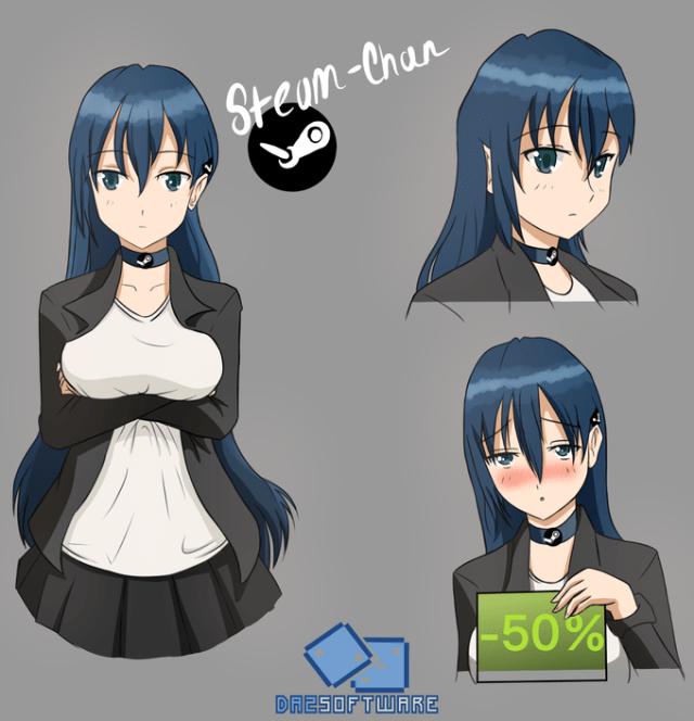 Steam as an anime girl - Steam chan