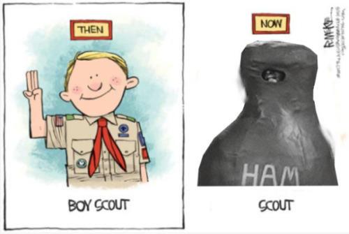 Ham Rick Mckee S Boy Scout Cartoon Know Your Meme