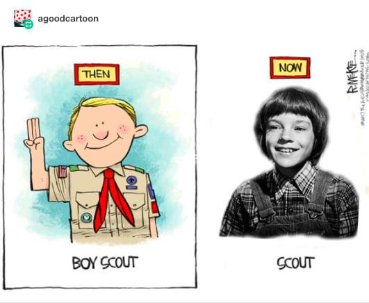 Scout Rick Mckee S Boy Scout Cartoon Know Your Meme