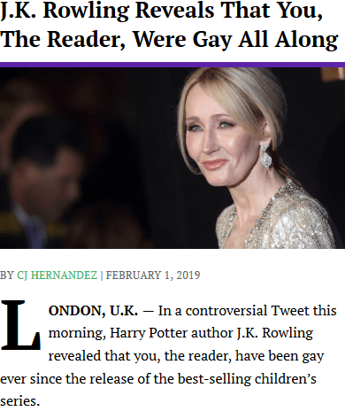 J K Rowling Reveals Your Mom Is Homosexual J K Rowling Tweet