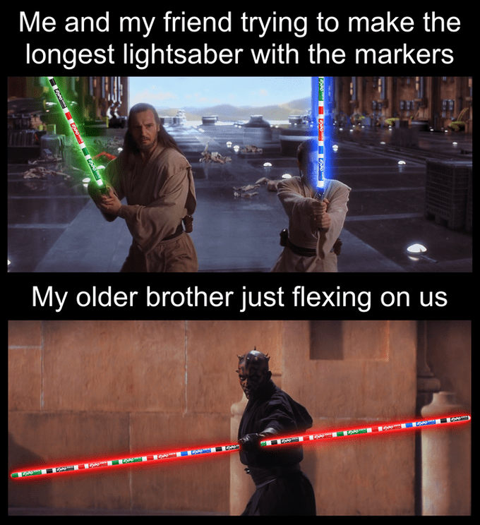 The Best Darth Maul S Double Sided Lightsaber Memes Know Your Meme