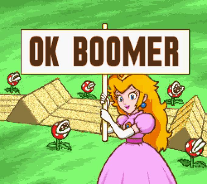 OK BOOMER Cartoon Green Games
