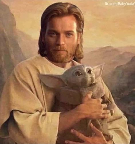 Jesus Holding Our Divine Lord And Saviour R Babyyoda Baby