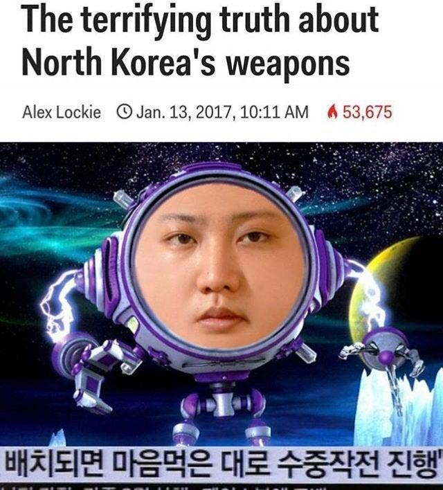 The terrifying truth about North Korea's weapons Alex Lockie O Jan. 13, 2017, 10:11 AM 653,675 배치되면 마음먹은 대로 수중작전 진행 The Adventures of Sharkboy and Lavagirl in 3-D Sharkboy Forehead