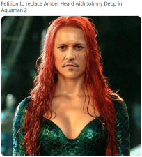 Petition to replace Amber Heard with Johnny Depp in Aquaman 2 Amber Heard Mera Hair Hairstyle Long hair Hair coloring