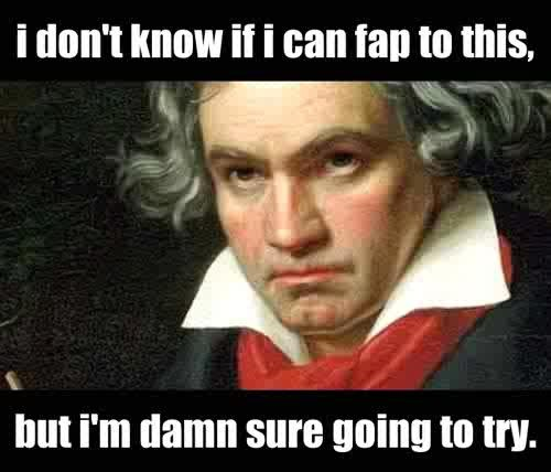 Beethoven Doubt I Can T Fap To This Know Your Meme