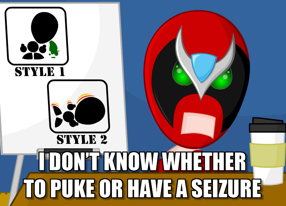 I Don T Know Whether To Puke Or Have A Seizure Homestar Runner