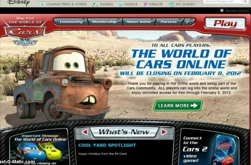 Disney Cars 2 Games Free Online | Amtcartoon co