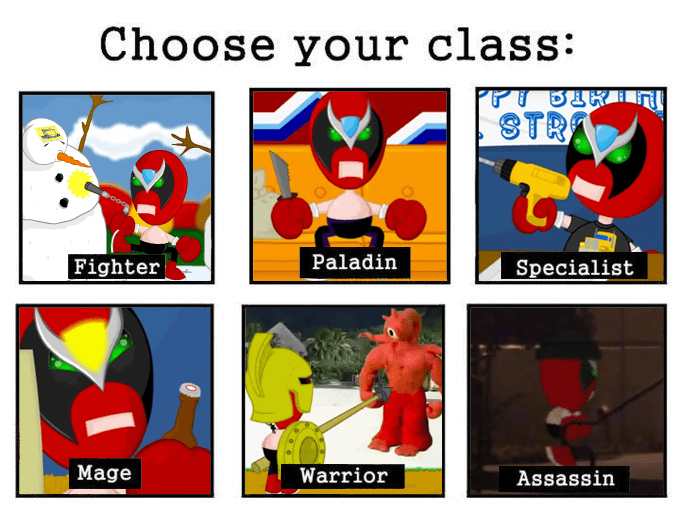 Strong Bad Classes Choose Your Class Know Your Meme
