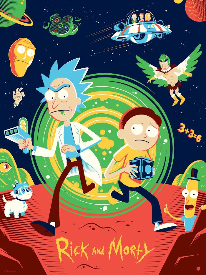 limited edition rick and morty print