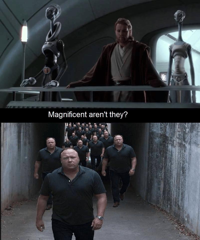 Magnificent Aren T They Alex Jones Clones Know Your Meme