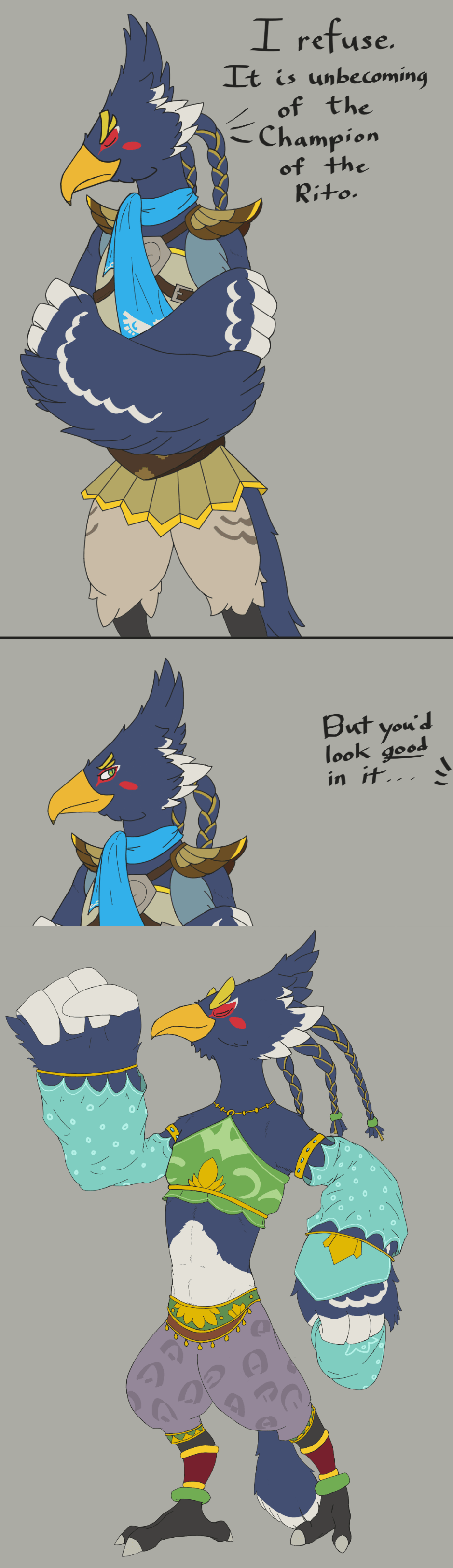 In The End Clothes Don T Make Revali Look Good Revali Makes