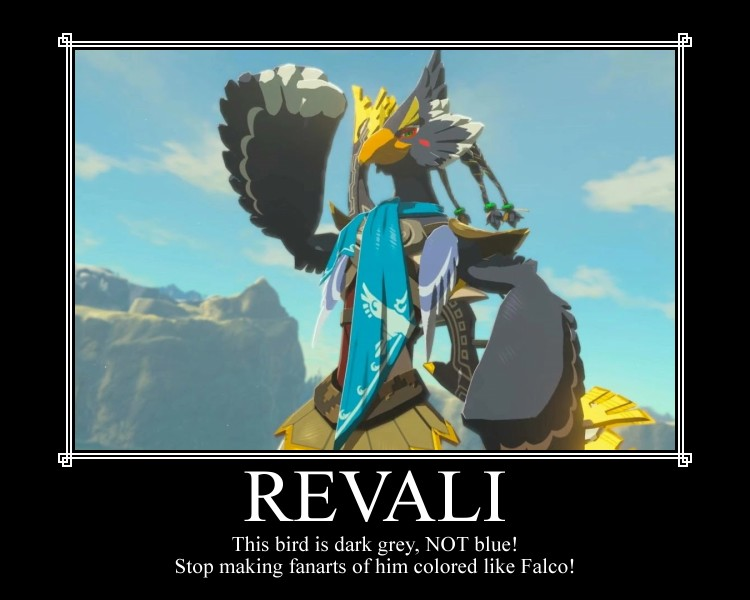 Revali Is Not Blue The Legend Of Zelda Breath Of The Wild
