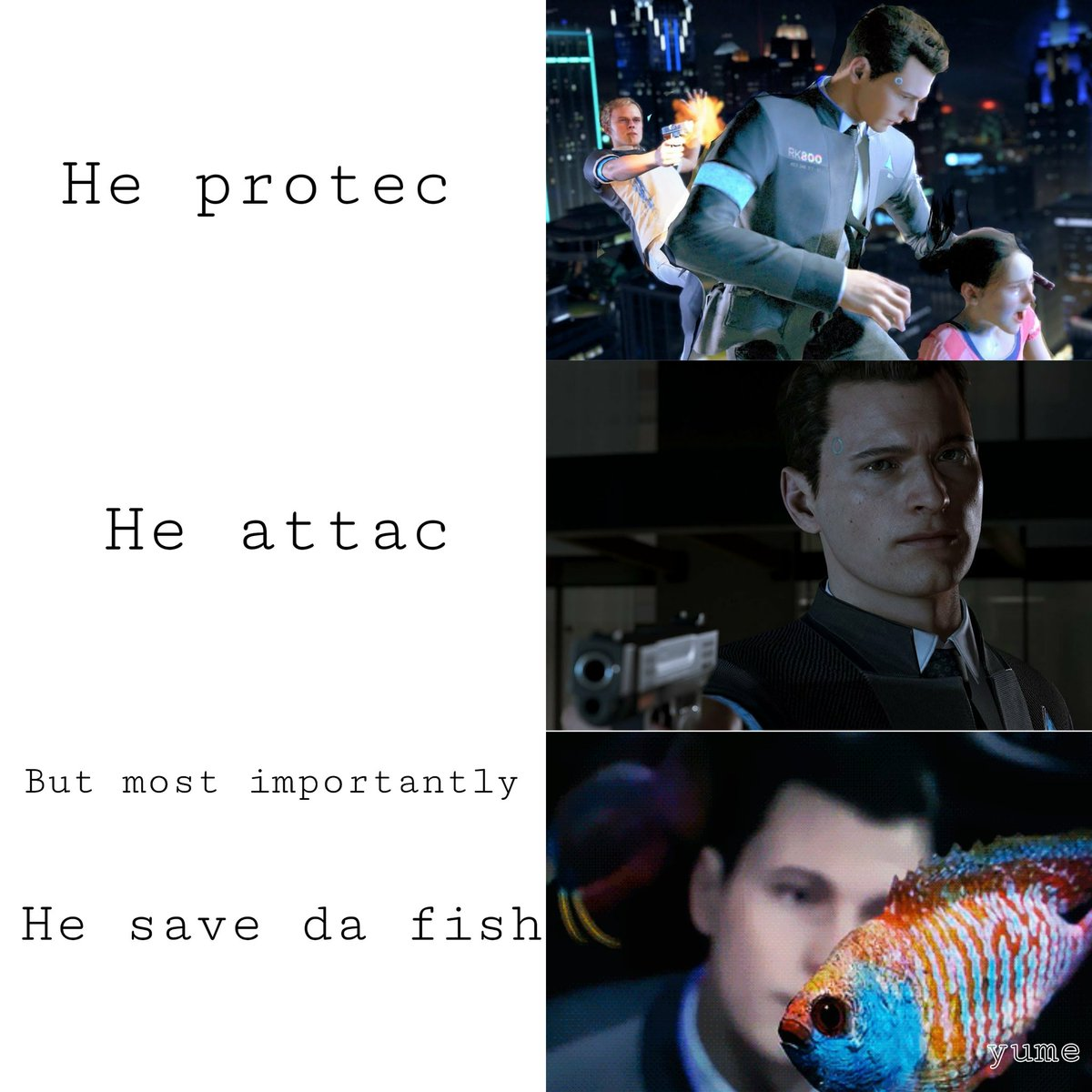 Machine Connor Is Like North Detroit Become Human Memes