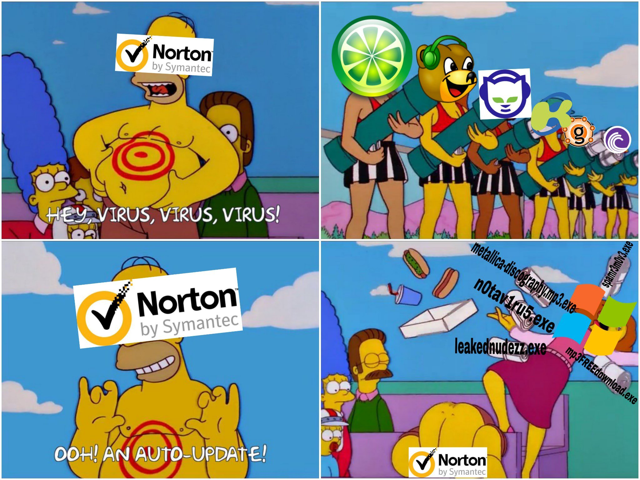 Simpsons Limewire Memes Give Me Life Limewire Know Your Meme