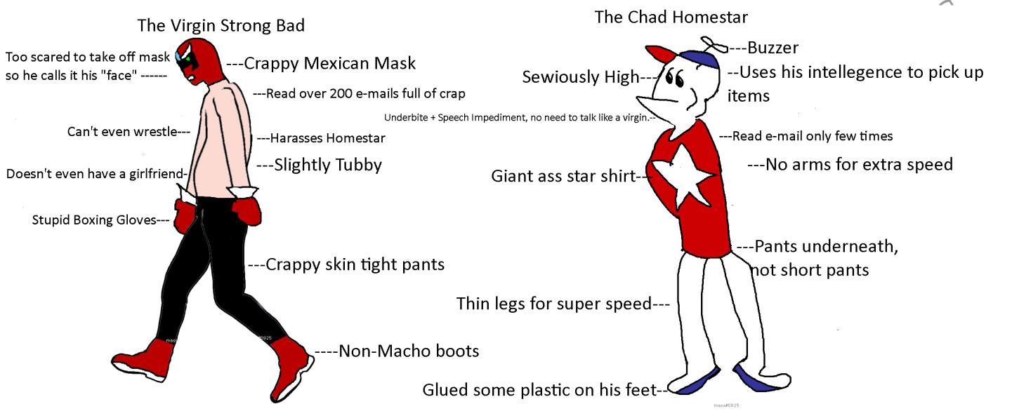The Virgin Strong Bad Vs The Chad Homestar Virgin Vs Chad
