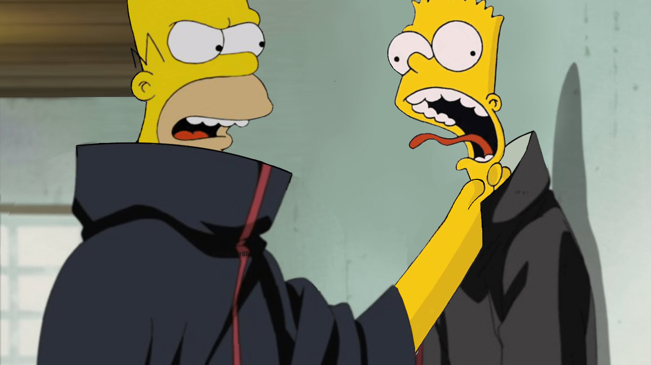 Only Homer Can Strangle Bart Simpsons Meme Simpsons Funny