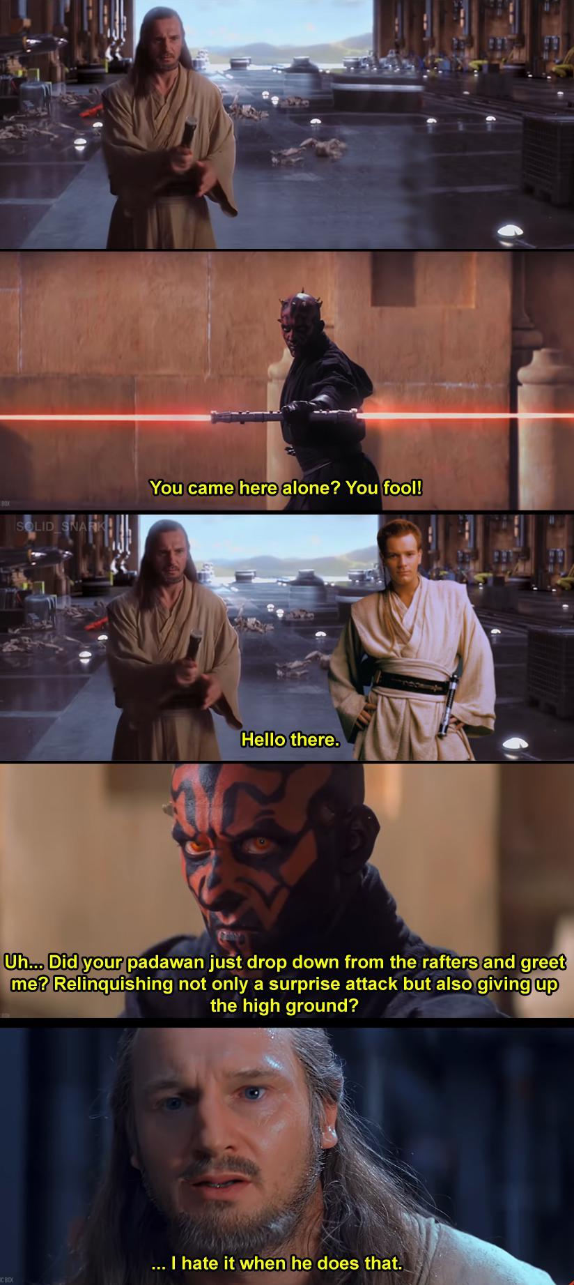 Obi Wan Always The Bold One R Prequelmemes Prequel Memes