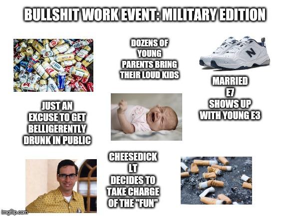 Some Bullshit Work Event Starterpack Military Edition R