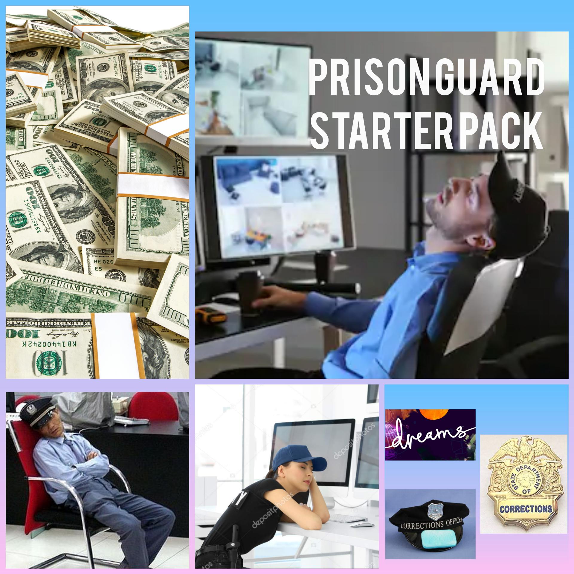 Epstein Prison Guard Starter Pack R Starterpacks Starter Packs