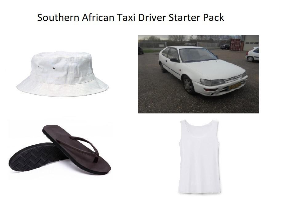 Southern African Taxi Driver Starter Pack R Starterpacks