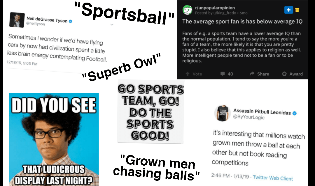 I Am Too Intellectual For Sports Starter Pack R Starterpacks