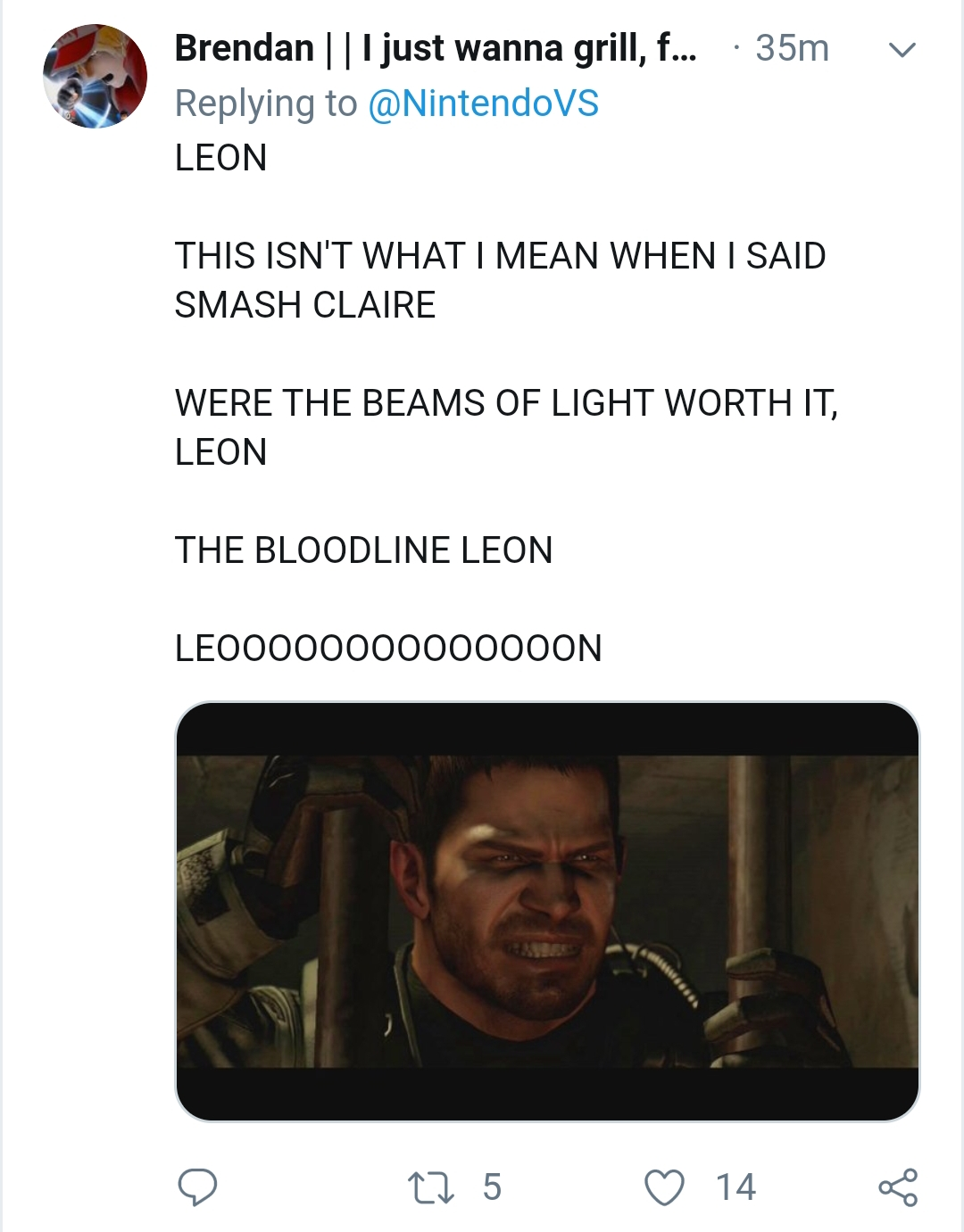 Anonymous Said Stopwith The Memes Leon And Claire Were Made For