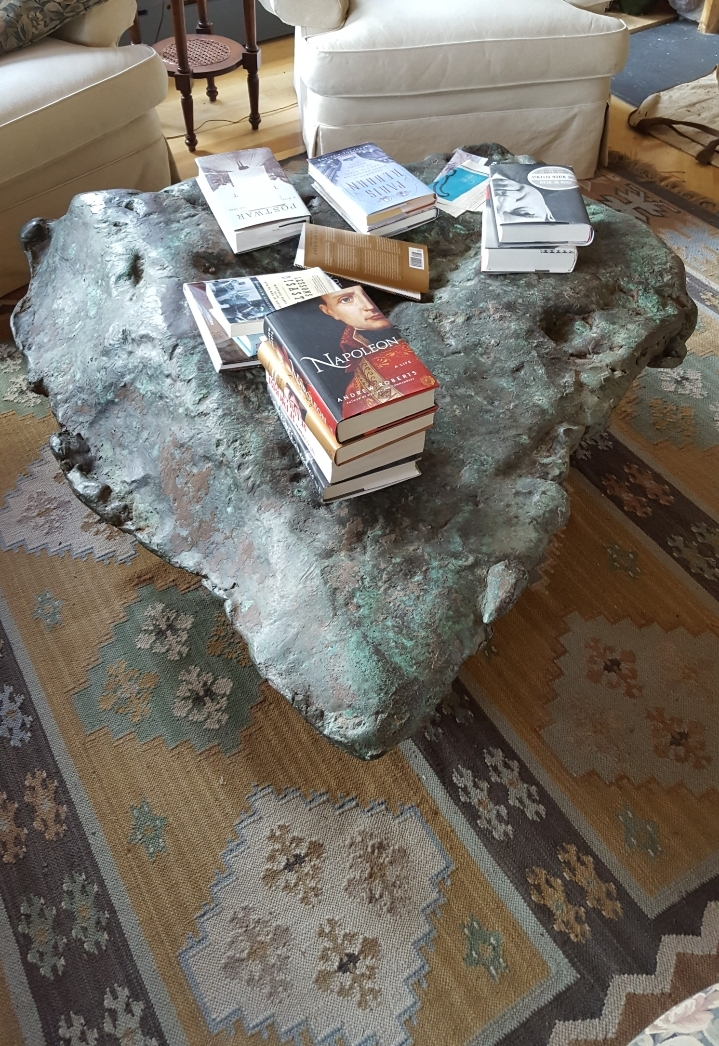 this coffee table is an enormous piece
