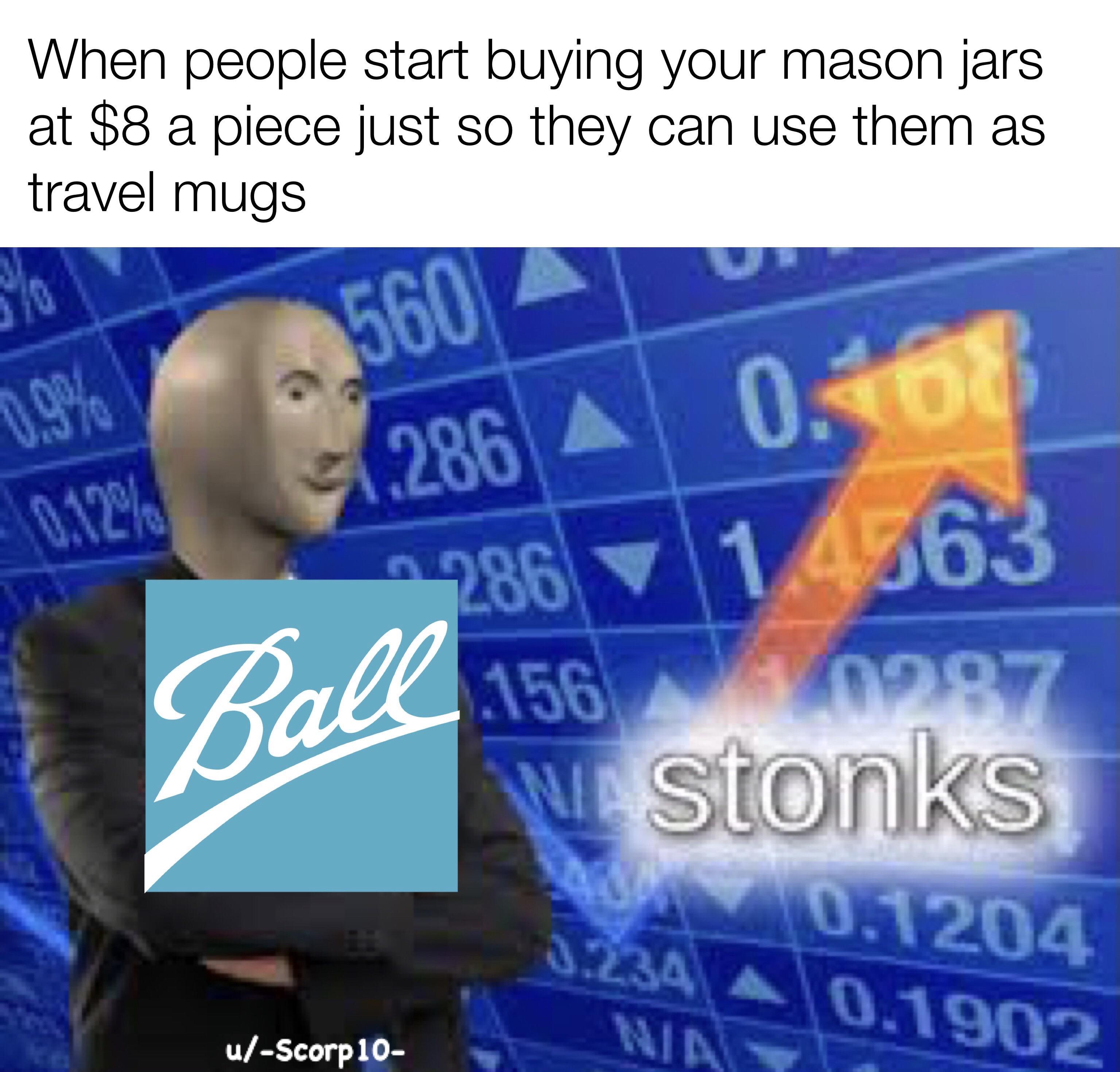 Jar Stonks R Stonks Meme Man Wurds Know Your Meme