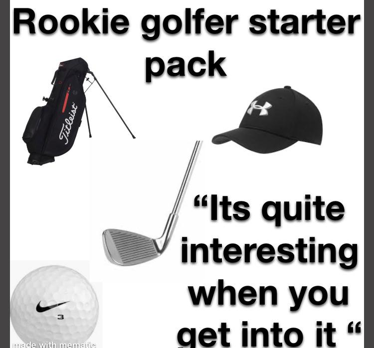 The I Golf Twice A Year In Scrambles Starter Pack Starterpacks