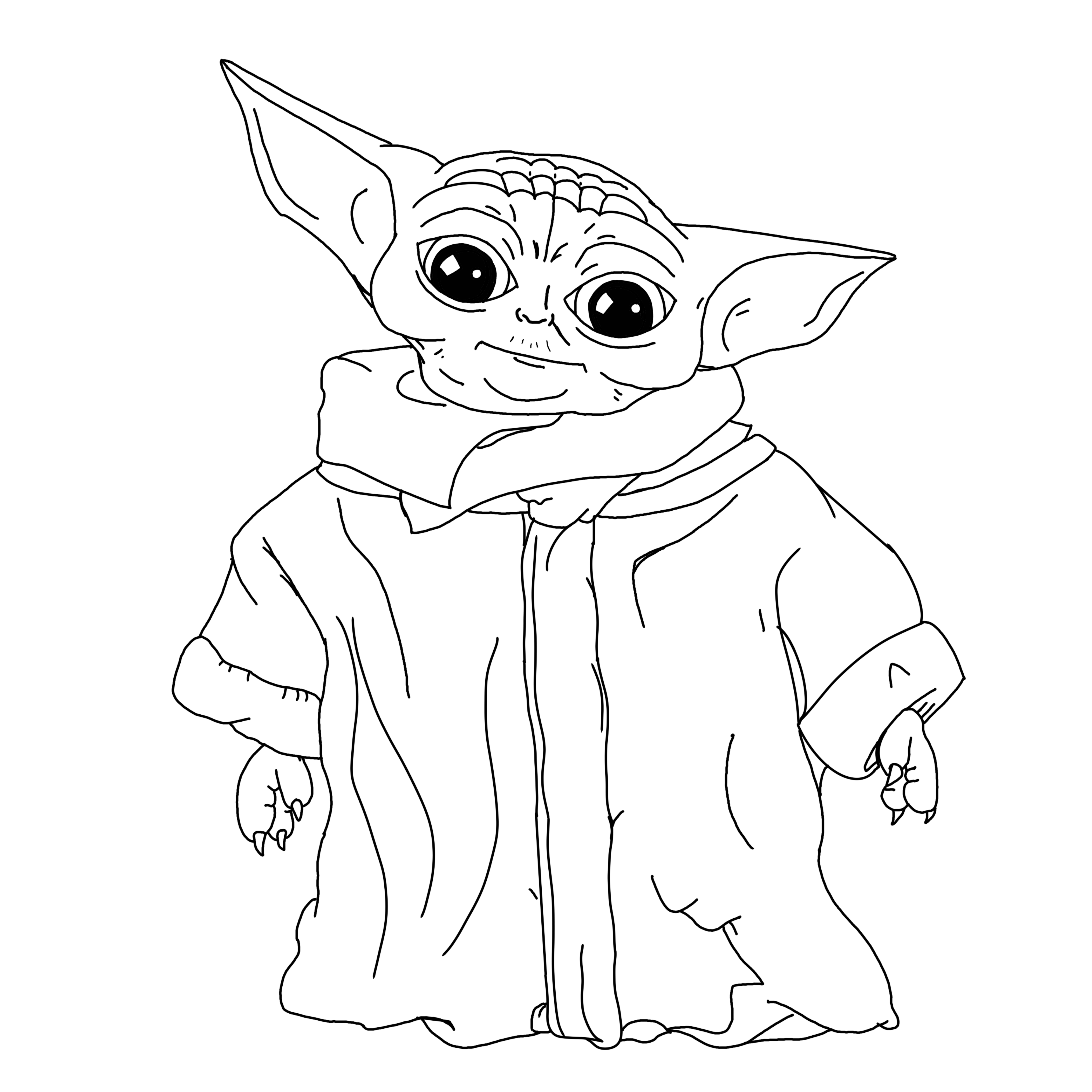 I Created A Coloring Page For Bebe Yoda The Child Enjoy