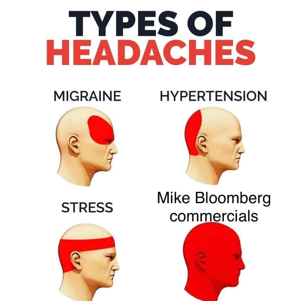 Mike Bloomberg Commercials Types Of Headaches Know Your Meme