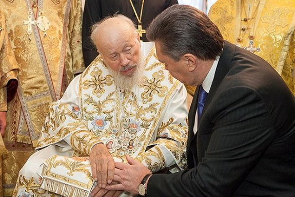 Митрополит Владимир и Виктор Янукович