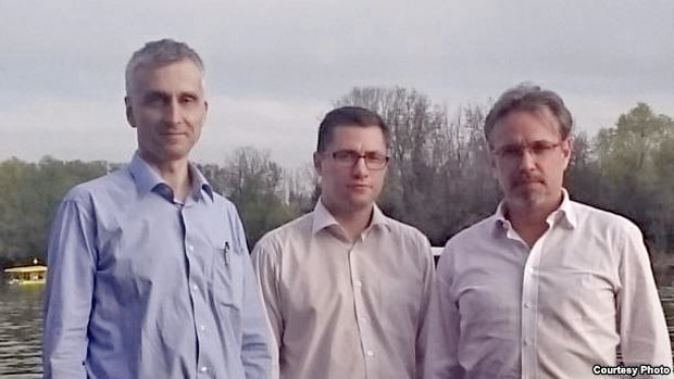 From left to right: Vencislav Bujic, Sergey Lushch, Aleksey Kochetkov, Belgrade, Serbia