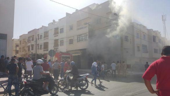 حريق بأكادير
