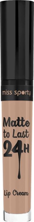 Ruj mat de buze - Crème pour les lèvres Miss Sporty Matte To Last 24h
