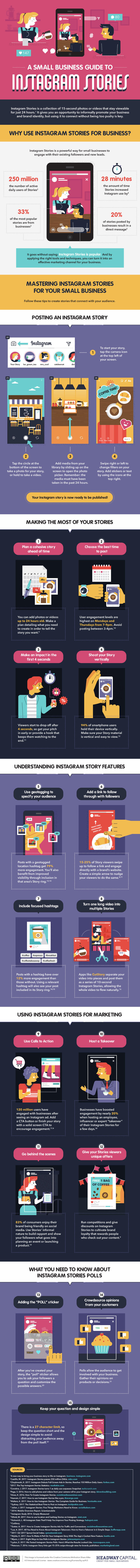 Instagram Stories Guide for Small Businesses   Marketing Infographic To see how to get started with Instagram Stories for your business  check  out the infographic