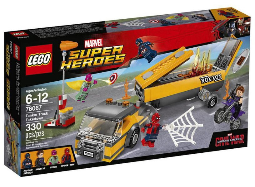 captain america civil war lego set 76067 with spider man revealed