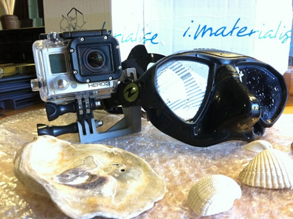 3D Printed GoPro Scuba Mount