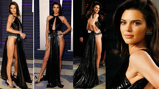 Kendall Jenner yine yarıçıplak