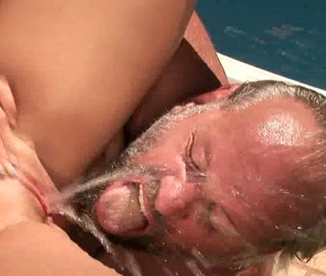 Gorgeous Blondie Squirts On Old Mans Face And Swallows His Cum Mylust Com