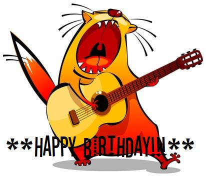 Happy Birthday Cat Singer Happy Birthday